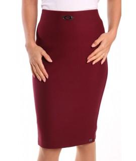 Dámska elastická sukňa s ozdobou - bordová