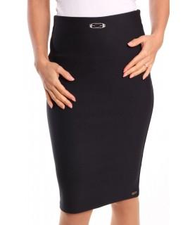 Dámska elastická sukňa s ozdobou - tmavomodrá
