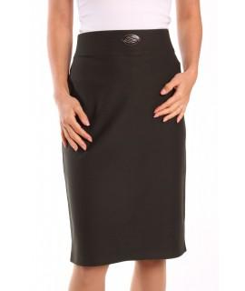 Dámska elastická sukňa s ozdobou - vojensko zelená