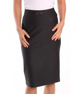 Dámska elastická sukňa s ozdobou - antracitová