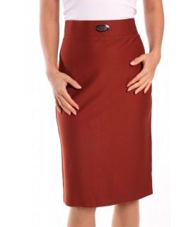 Dámska elastická sukňa s ozdobou - tehlová
