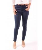 Dámske elastické rifľové nohavice PUSH UP s opaskom M.SARA (MS1020-68)  -modré