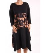 Dámske šaty JAMOISELLE (6132.1) - hnedo-čierne
