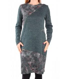 Dámske bavlnené šaty - zelené