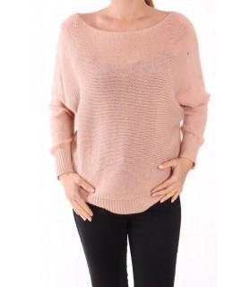 Dámsky pletený pulóver V&F moda - staroružový