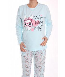 Dámske pyžamo SNC-2531 - bledomodré