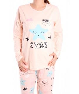 Dámske pyžamo SNC-2530 - marhuľové