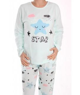 Dámske pyžamo SNC-2530 - tyrkysovo-modré