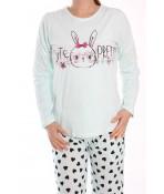 Dámske pyžamo SNC-2534 - tyrkysové
