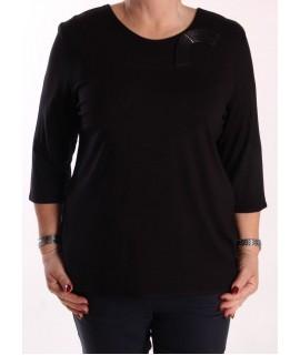 Dámske elastické tričko  - čierne