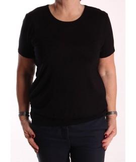 Dámske elastické tričko s patentom - čierne