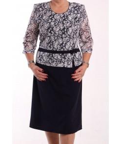 Dámske spoločenské elastické šaty KEPKA (vzor 009) - tmavomodré