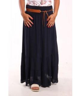 Dámska letná sukňa - tmavomodrá