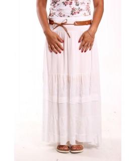 Dámska letná sukňa - biela