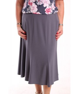 Dámska elastická sukňa - sivá