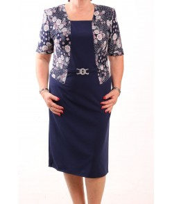 Dámske spoločenské elastické šaty KEPKA - tmavomodré (013)