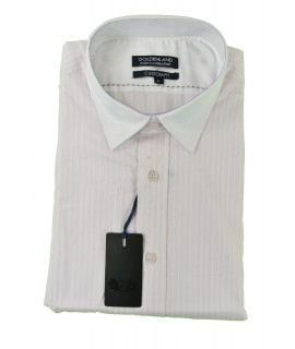 ca7022b9c667 Ružovo-biela pruhovaná košeľa s bielym golierom