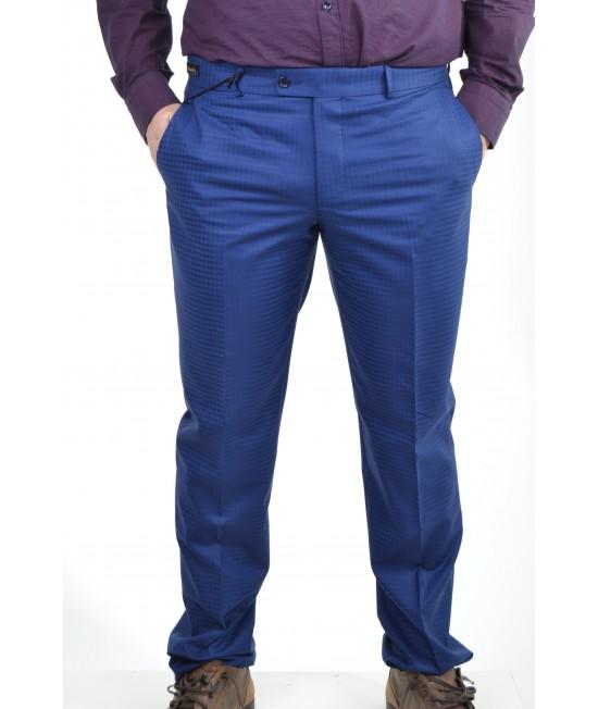Pánske elegantné nohavice kocka - modré