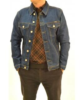 Pánsky rifľový kabát - modrý