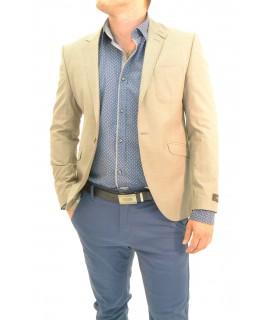Pánske sako s jemným pásikom - pieskové