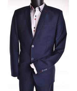 Pánsky oblek štepovaný - modrý 182