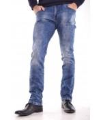 """Pánske elastické nohavice rifľové """"M-SARA KA 9279"""" - modré P73"""