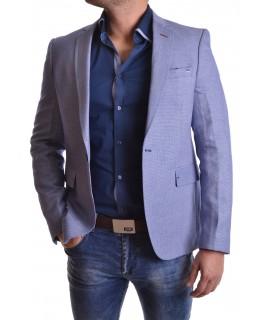 Pánske sako s bielym vzorom - modré