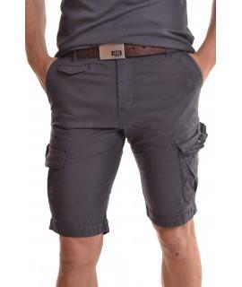 """Pánske elastické krátke letné nohavice """"M-SARA"""" (KG3530-7) - tmavosivé"""