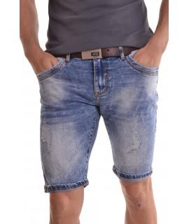 """Pánske elastické krátke rifľové nohavice """"M-SARA"""" (KG3517) - modré"""