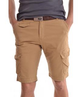 """Pánske elastické krátke nohavice """"M-SARA"""" (KG-3530) - khaki"""