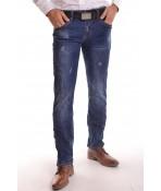 """Pánske elastické rifľové nohavice """"M.SARA KA 9791"""" - modré"""