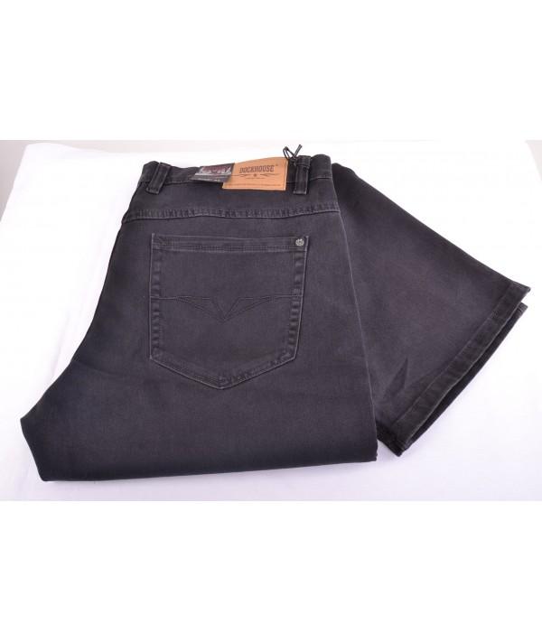 bf3d73c89 Pánske elastické nohavice DOCKHOUSE 1037A-7 - hnedosivé