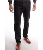 Pánske športovo-elegantné lesklé nohavice MID-POINT (KA375) - čierne