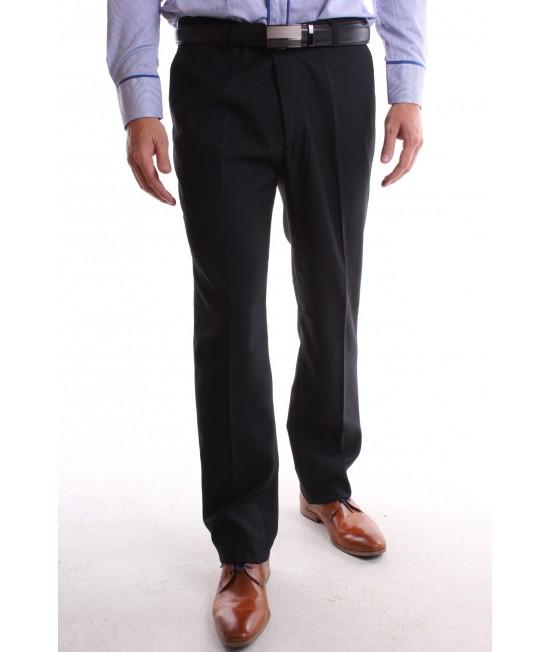 Pánske elegantné nohavice (CS106-25) modro-čierne