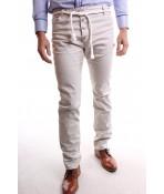 Pánske elastické športové nohavice M-SARA (KA8507-169) - krémové