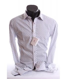 a3eb99737503 Pánska košeľa s kvetinovým vzorom (SLIM FIT) - biela P17