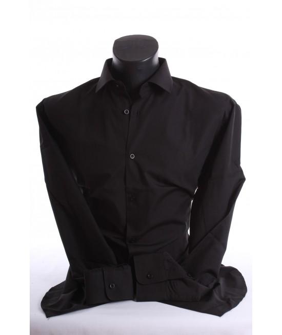 Pánska košeľa (v. 180-188 cm) - čierna