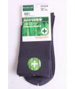 Pánske bambusové zdravotné ponožky (v. 39-42) - tmavosivé