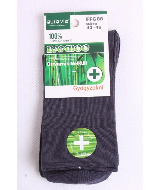 Pánske bambusové zdravotné ponožky (v. 43-46) - tmavosivé