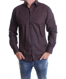 Pánska elastická košeľa VZOR 6. - hnedá