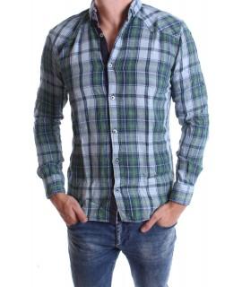 Chlapčenská košeľa VZOR 7. - zelená