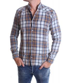 Chlapčenská košeľa VZOR 7. - hnedá