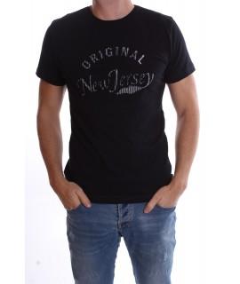 """Pánske elastické tričko """"ORIGINAL-NEW JERSEY"""" - čierne"""