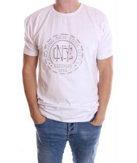 """Pánske elastické nadmerné tričko """"AMAZING NEW YORK CITY"""" - biele"""