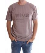 "Pánske elastické nadmerné tričko ""OUTLAW"" - bledohnedé"