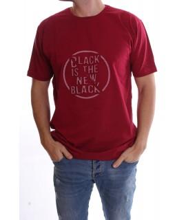 """Pánske elastické nadmerné tričko """"BLACK"""" - bordové"""