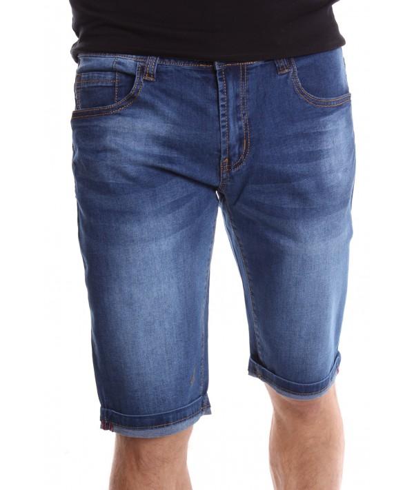 debf4dba7cff Pánske elastické krátke rifľové nohavice M.SARA (KR1055) - modré