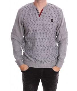 Pánske tričko vzorované (6560) bledosivé