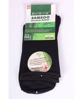 Pánske bambusové zdravotné ponožky (FFG99) - tmavomodré