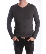Pánske elastické tričko -MJ-1- sivé